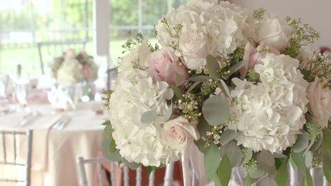 Elegant Wedding Floral Arrangement Centerpiece at Reception