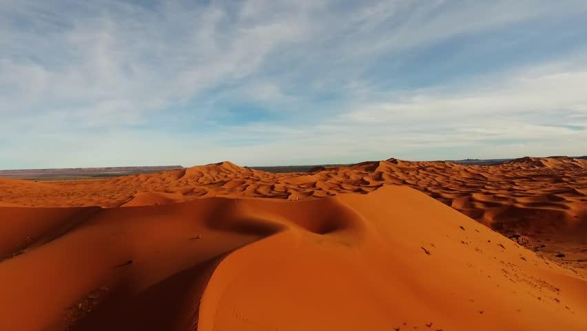 Aerial sahara desert, shot by drone   Shutterstock HD Video #1015595164