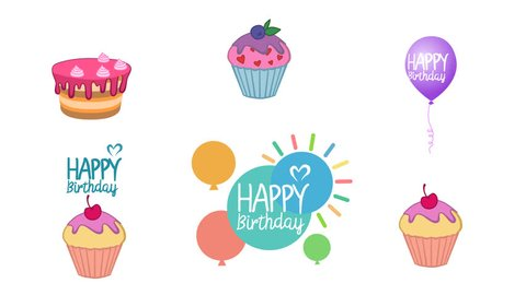 Birthday Cake Clip Art Stock Video Footage 4k And Hd Video Clips