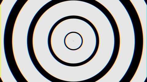 Black and White Seamless Looping hypnosis spiral Background. Circles hypnotic animation. Hypnotic graphic effect