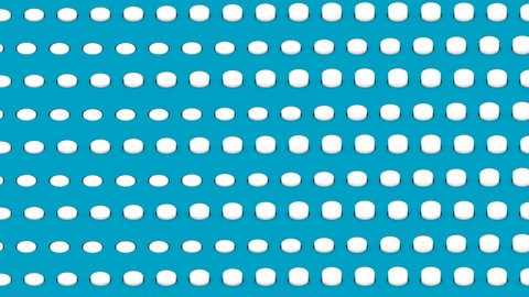 Abstract isometric background white cylinders horizontal waves motion