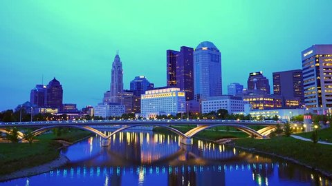 columbus,ohio,usa. 9-11-17: beautiful columbus skyline at night.