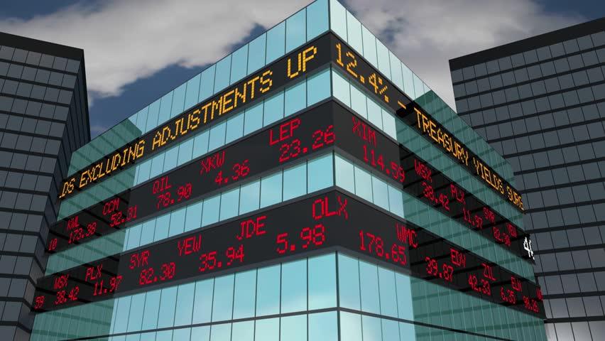 401K Retirement Savings Investment Account Stock Market Ticker 3d Animation