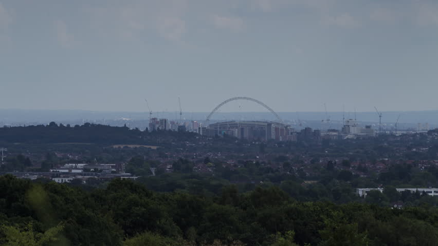 Wembley Stadium as seen in a timelapse from Stanmore