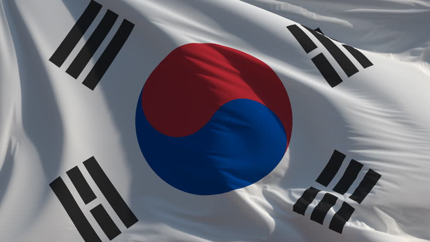 Flag of Korea: seamless loop animation (full screen, 4K) | Shutterstock HD Video #1015933684