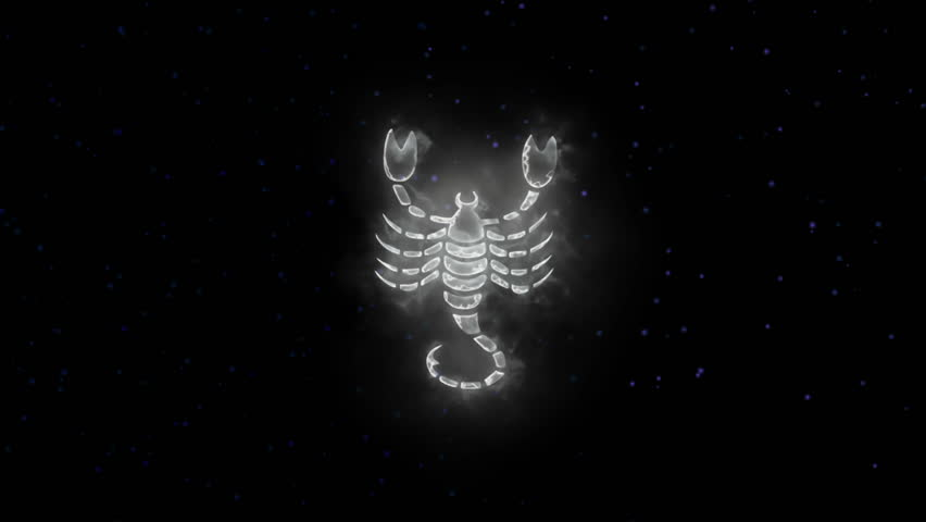 Zodiac sign Scorpio and beautiful background for presentations, video intro, horoscope, films, transition, titles and much more