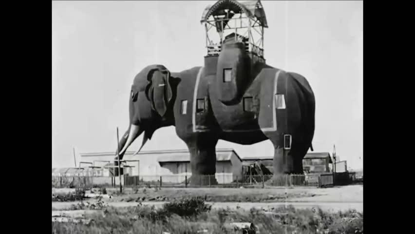 CIRCA 1919 - Atlantic City's Elephant Hotel is seen.