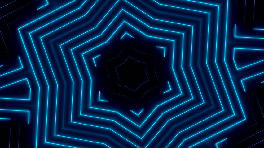 Beautiful abstract symmetry kaleidoscope with shiny neon lines, 3d rendering backdrop, computer generating background | Shutterstock HD Video #1016308864