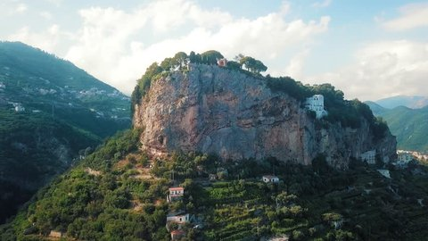 A view of aAn aerial View of Villa Cimbrone, one of themost luxurious garden hotels in Ravello