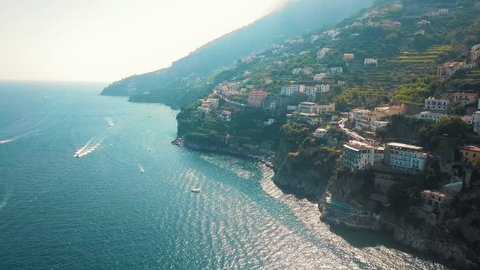 An aerial shot showing Villa Combrone, a luxury garden in the whole mediterranean.