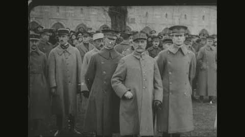 CIRCA 1920s - Marshal Ferdinand Foch receives a degree from Dr. Nicholas Murray Butler at Columbia University and visits New York City.