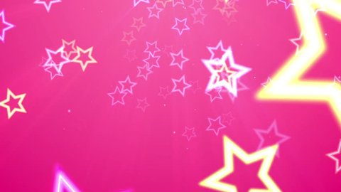 It is a pop and cute animation that neon color stars look fun. Pink is very cute.  This animation is loop.