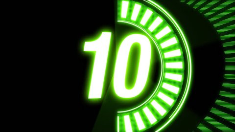 10sec count down animation. neon color pop style counter. count end will whiteout.