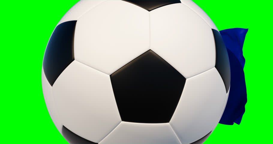 Soccer_ball_flag. French Football Championship.Sport,football advertising  ideas.3d animation,chroma key | Shutterstock HD Video #1016625664