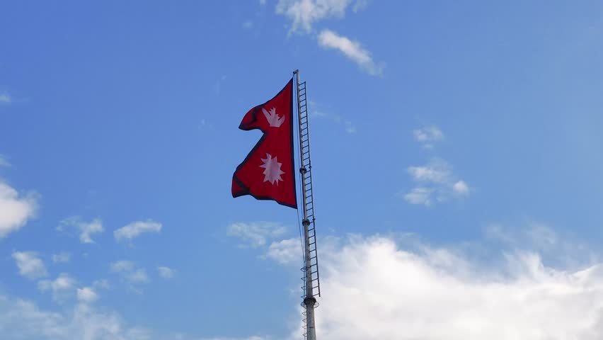 Waving flag of Nepal in 4K 24 frame per second