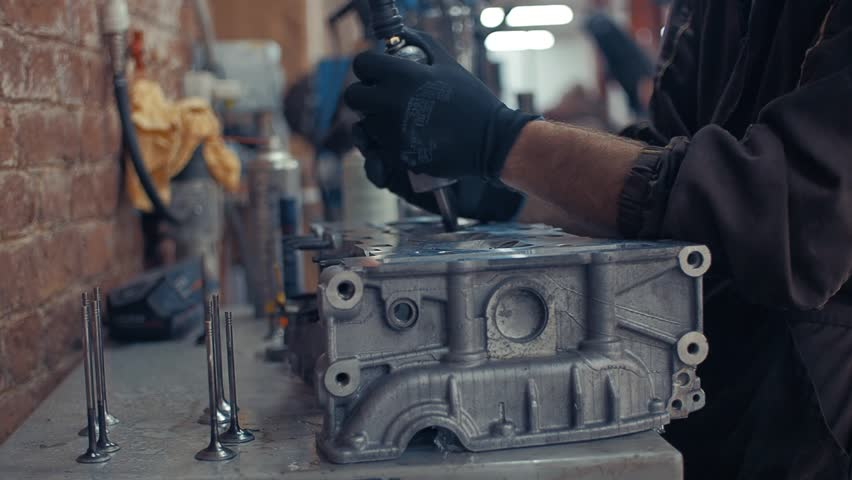 Cylinder Head Repair with Air Stock Footage Video (100% Royalty-free)  1016742874 | Shutterstock