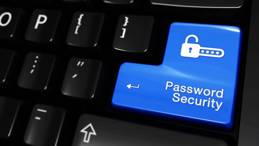 42. Password Security Moving Motion On Blue Enter Button On Modern Computer Keyboard with Text and icon Labeled. Selected Focus Key is Pressing Animation. Database Security Concept   Shutterstock HD Video #1016804254