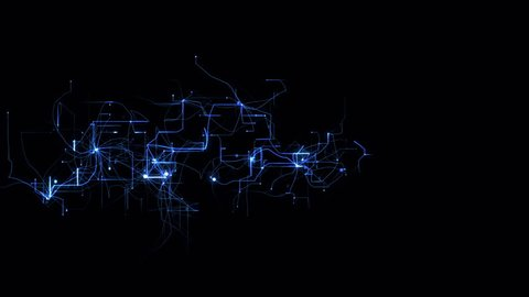 4k lightning electromagnetic wire energy field,Blue electrons,Circuit board,fiber optic transmission,Futuristic tech background.Network connections.