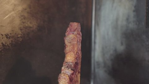 Barbecue beef fillet close up