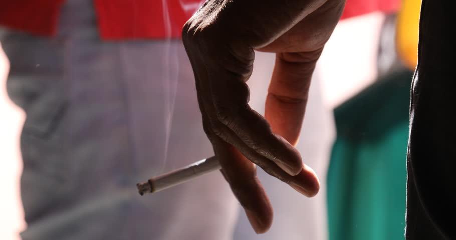 Man smoking closeup Hyderabad India 25th Sep 2018 #1017112084