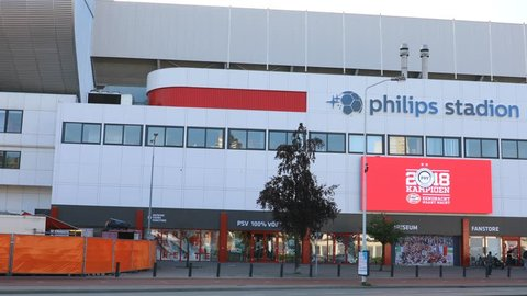 EINDHOVEN, NETHERLANDS - JUNE 5, 2018: Philips Stadion is a football stadium in Eindhoven, Netherlands and it is the home of PSV Eindhoven football team