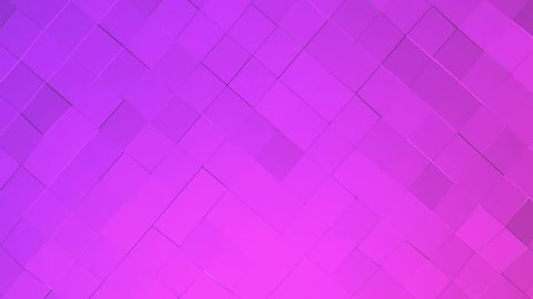 purple low poly background. abstract animation. 3d rendering