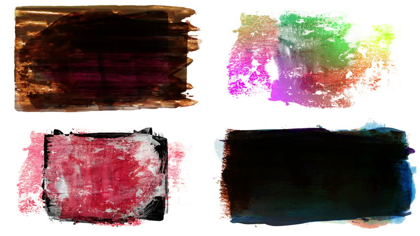Set of grunge brush stroke. Abstract hand - painted element. Underline and border design. Seamless looping background. 4K | Shutterstock HD Video #1017528184