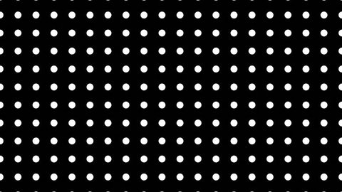 Dynamic Black And White Composition With Dots Scaling/ 4k animation pack of a black and white background intro including various grids appearing with minimal simple dots at different scales