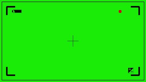 Camcorder Viewfinder Rec Green Screen 3D Rendering Animation