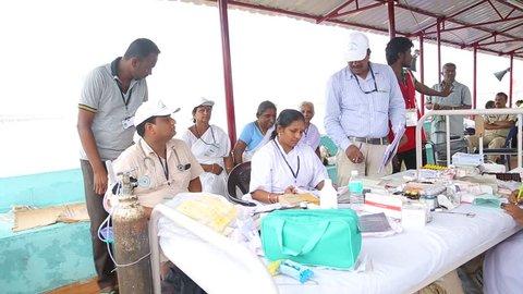 Free Medical Camp in Rural area Andhra Pradesh India 20th Jan 2018