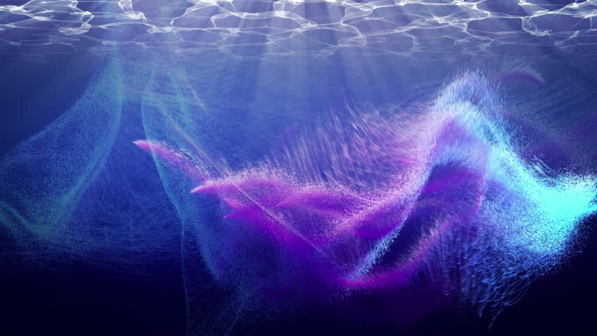Beautiful Particles underwater in 4K. Seamless loop. | Shutterstock HD Video #10178474