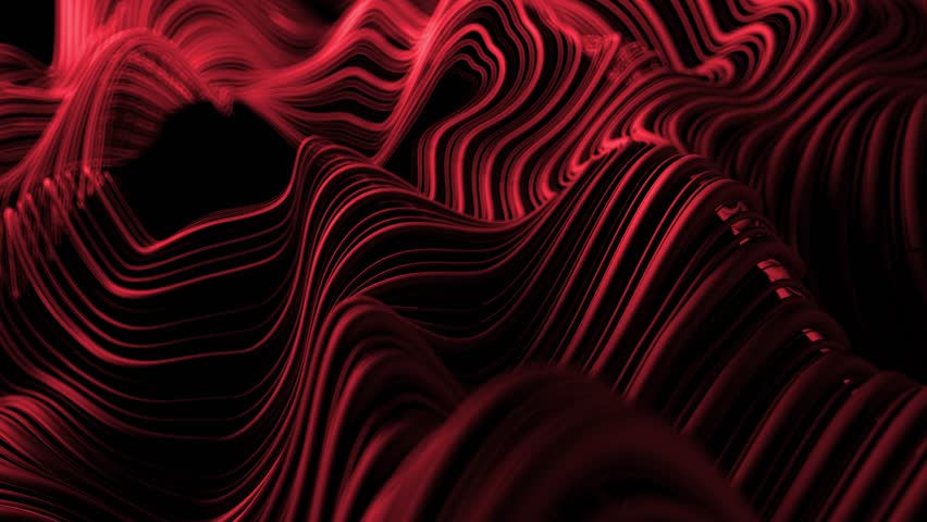 3d abstract background with wavy deformed thin and thick lines. Camera depth of field. Perfect for presentations. Organic flow lines. Loop animation. | Shutterstock HD Video #1018058344