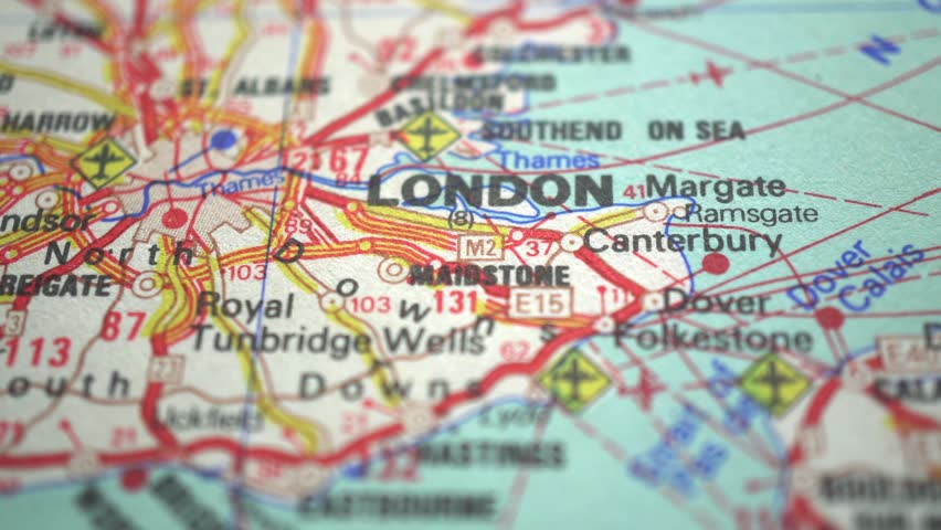 London On Europe Map Dolly Stock Footage Video 100 Royalty