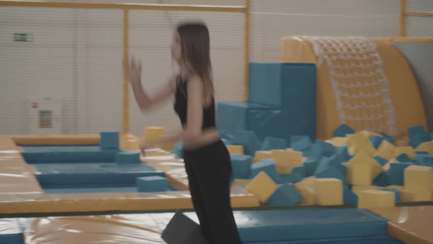 Fun Activity: Bouncy Complex for Jumping and Training | Shutterstock HD Video #1018492444