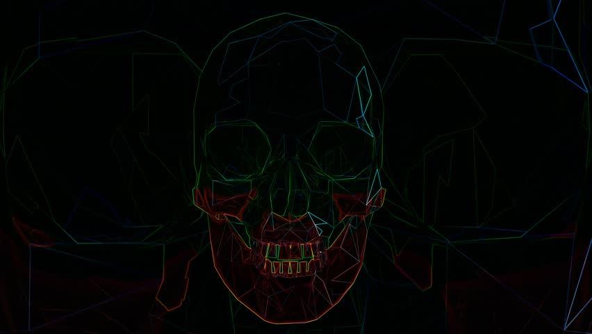 4K Rotating Skull Loop Halloween Comic Art 2 | Shutterstock HD Video #1018552024