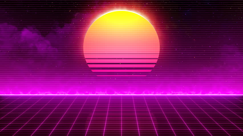Retro-futuristic 80s Synthwave Sun Grid Stock Footage Video (100%  Royalty-free) 1018878754 | Shutterstock