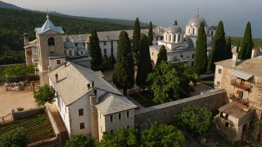Mount Athos Monastery Holy Mountain Church Greece Architecture