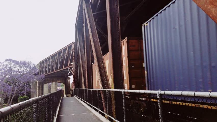 Train is travelling fast towards far away | Shutterstock HD Video #1019207524