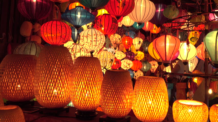 Close Up Countless Oriental Lamps Stock Footage Video 100 Royalty Free 1019236864 Shutterstock