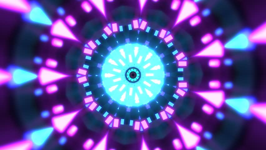 VJ Loops 10 - Hypnotic kaleidoscope stage visual loops for concert