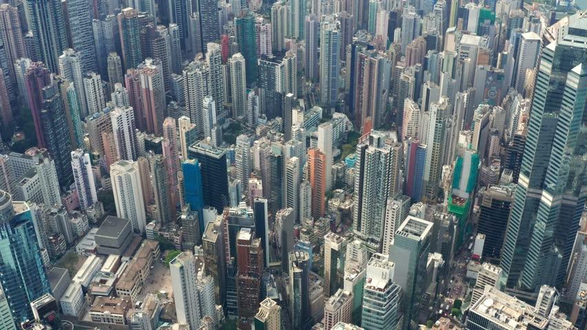 Central, Hong Kong 01 November 2018:- Hong Kong business building   Shutterstock HD Video #1019329774