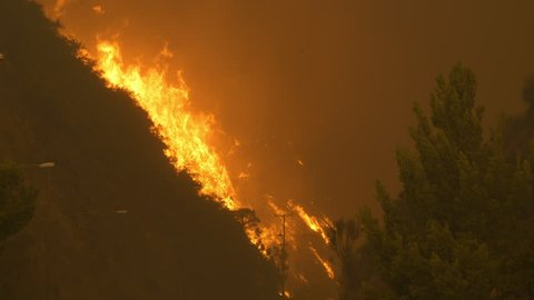 Woolsey Fire 2018 in Malibu California 24p 4K 16:9 Wildfires and Aftermath in ProRes