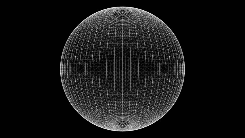 Loop rotate sphere animation cycle. White dots and Lines on the alpha transparent background. | Shutterstock HD Video #1019548624