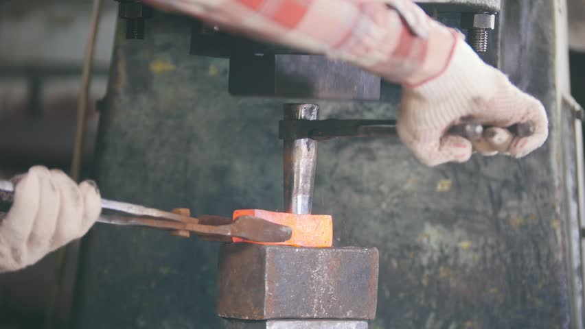 Blacksmith Working with Hammer On Stock Footage Video (100% Royalty-free)  1019628334 | Shutterstock