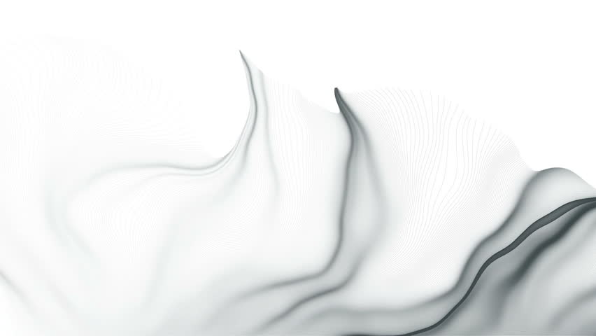 Complex plexus structure forming a geometric pattern moving on a white background. Futuristic concept. Beautiful wavy backdrop. | Shutterstock HD Video #1019715664