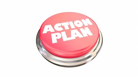 Action Plan Red Button Emergency 3d Animation