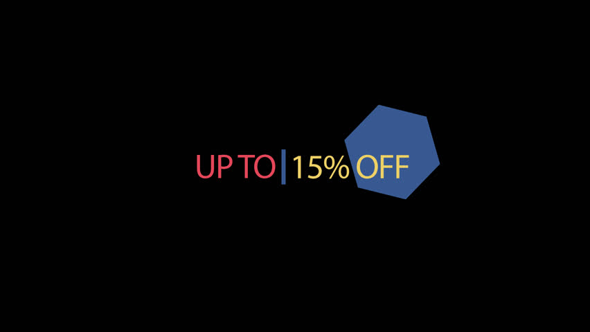 Up to 15% off, 20%, 30%, 40%, 50% off, 60%, 70%, 75% off. Discount Offer Sale off Animation Transparent Video with Alpha Channel in 4K | Shutterstock HD Video #1019924794