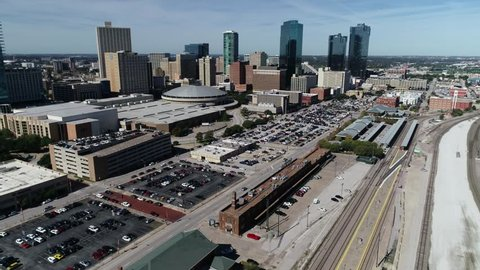 Fort Worth, Texas / United States - October 1, 2018 : Aerial of Downtown Fort Worth, Texas.
