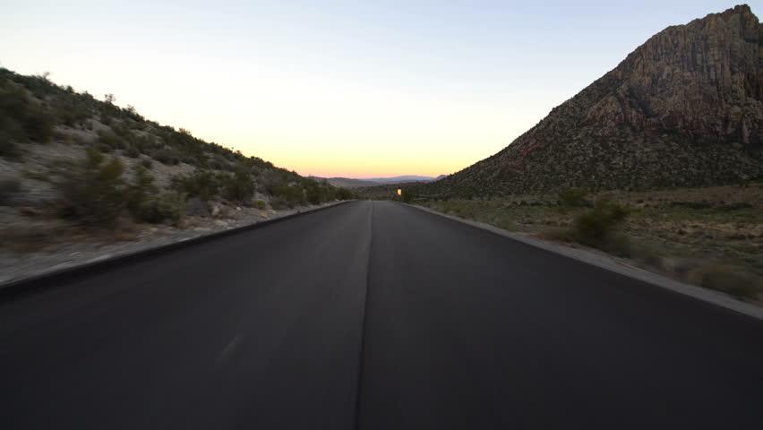 Hyperlapse Driving Winding Desert Highway Nevada | Shutterstock HD Video #1020465724
