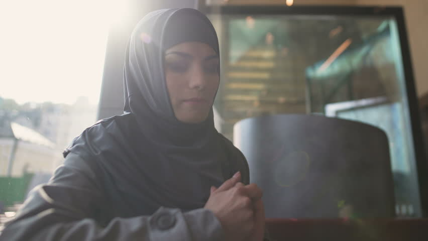 Anxious Arabic female suffering stress lonely female on verge of divorce trouble | Shutterstock HD Video #1020512044